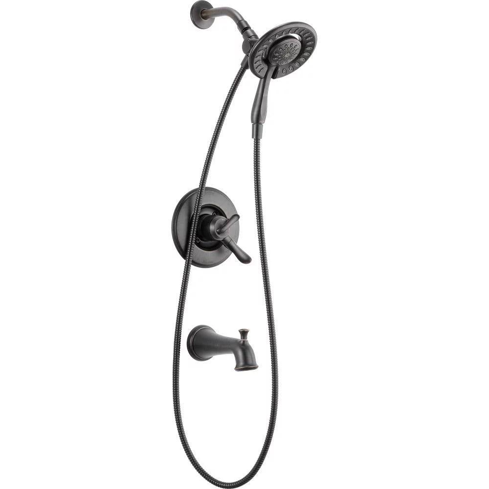delta nura 144710 rb i 1 handle bathtub faucet and multi function showerhead walmart com