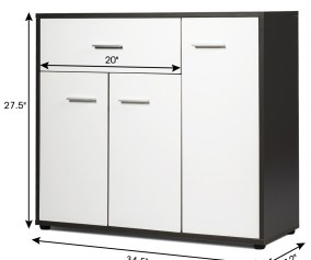 Costway Buffet Sideboard Cabinet Console Table Storage Unit Entryway Furniture W Shelf Walmart Com Walmart Com