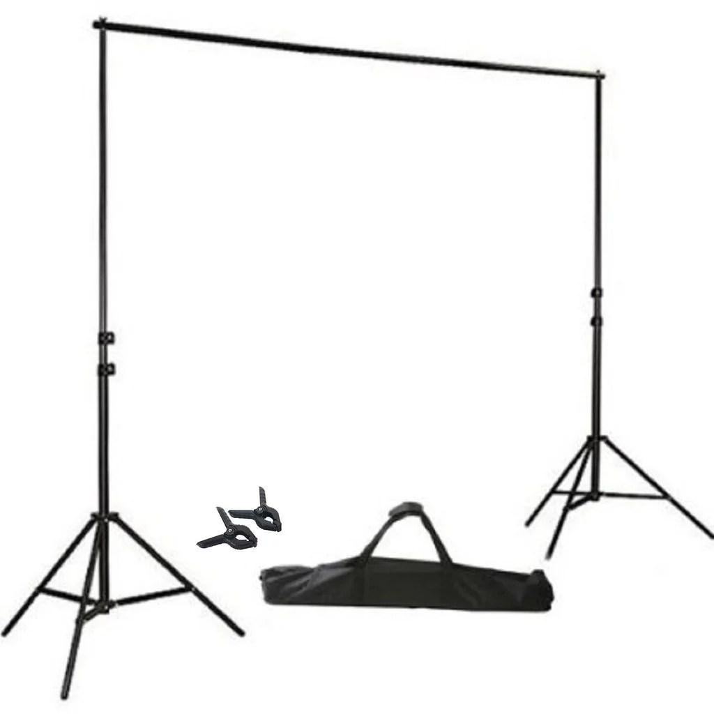 balsacircle black 8 ft x 10 ft photo backdrop stand kit studio background wedding party photo booth studio decorations walmart com