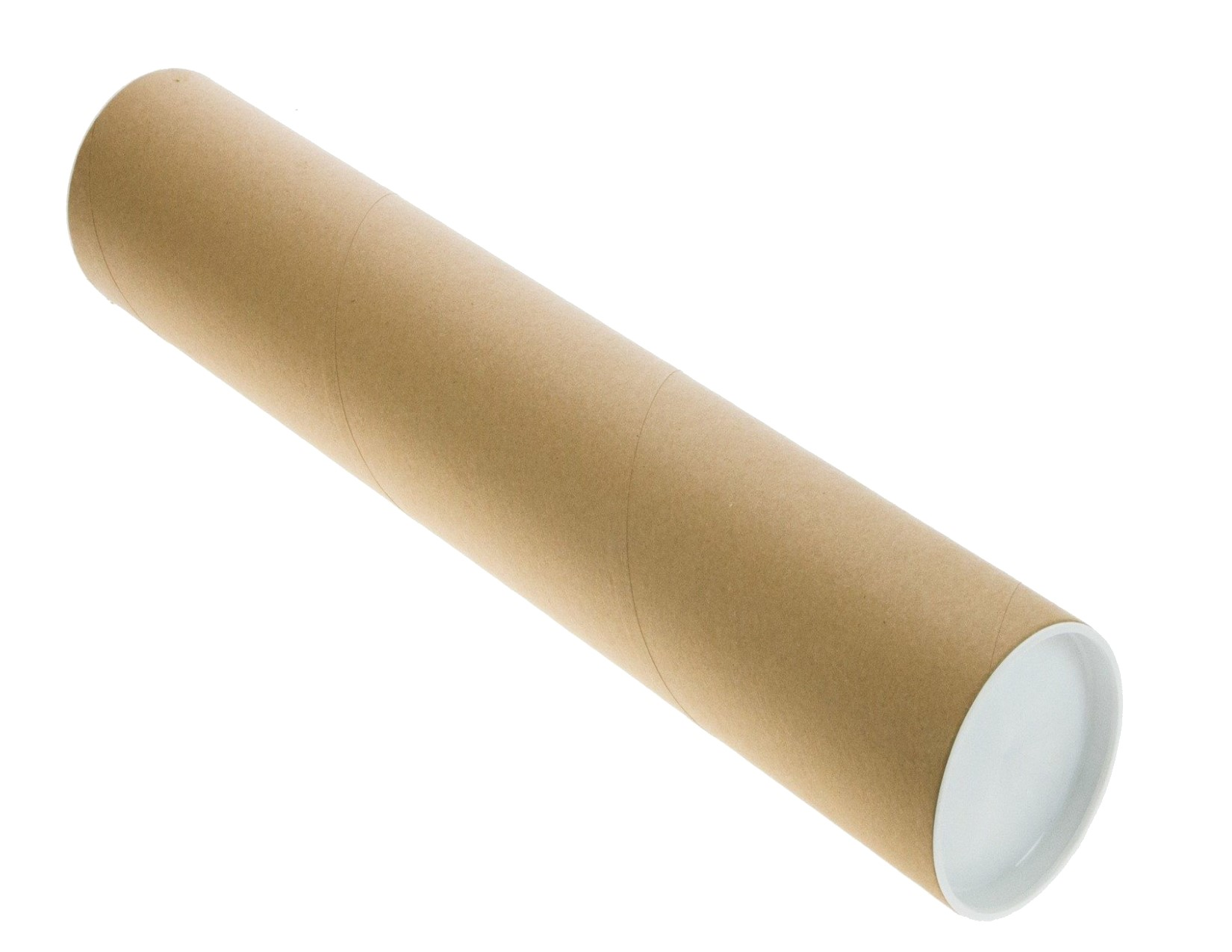 4 Pack Kraft Mailing Tubes 1.5″D x  30″L with caps (30″ usable space)