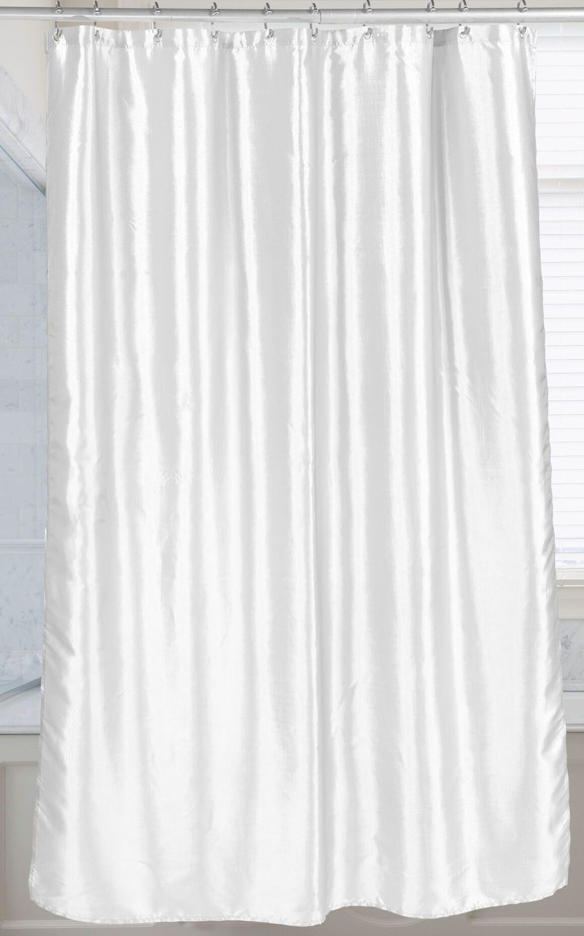royal bath shimmer faux silk shower curtain 100 polyester size 70x72 in white