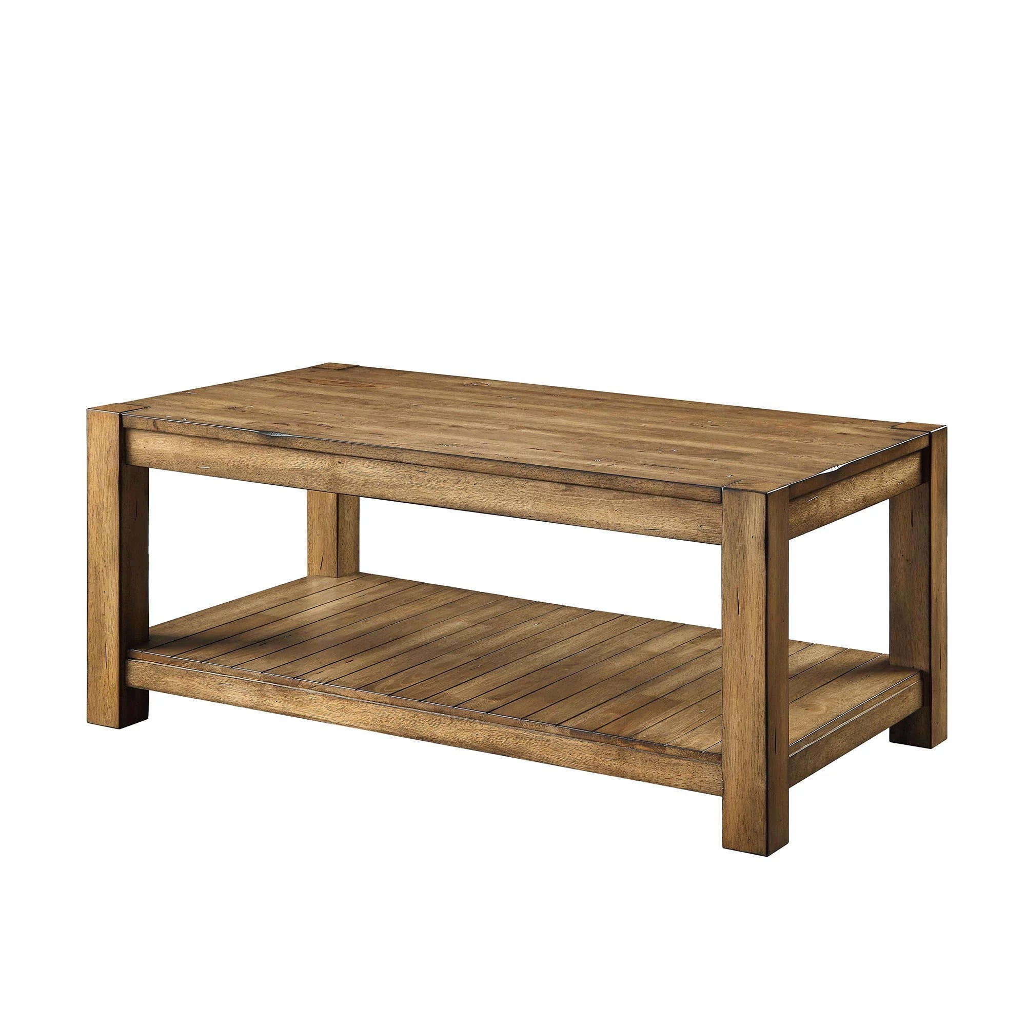 better homes gardens bryant solid wood coffee table rustic maple brown finish walmart com