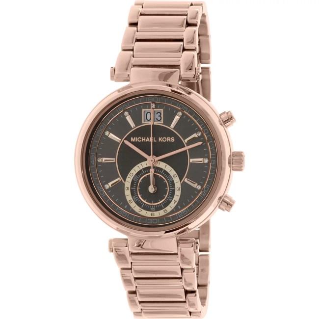 Michael Kors Women's Sawyer MK6226 Rose Gold Stainless-Steel Quartz Fashion Watch
