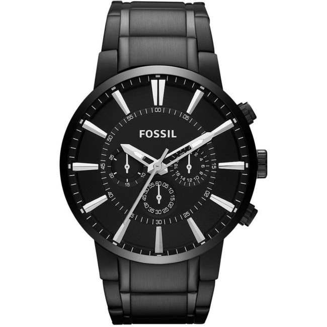 Fossil Men's Townsman FS4778 Black Stainless-Steel Analog Quartz Fashion Watch