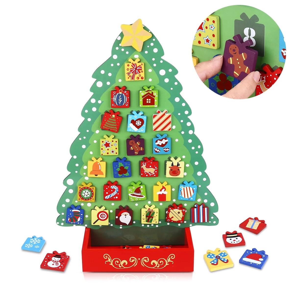 Unomor Christmas Countdown Calendar Wooden Advent Calendar