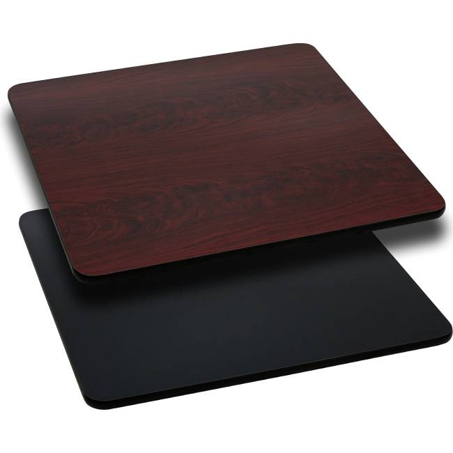 """Flash Furniture 24"""" Square Table Top with Reversible Laminate Top, Multiple Colors"""