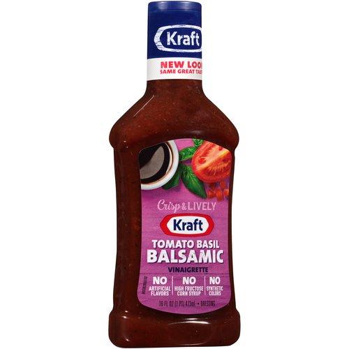 Kraft Balsamic Vinaigrette Dressing Marinade with Tomato