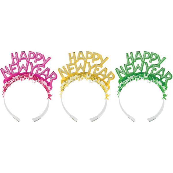 Creative Converting New Year'S Eve Foil Glitter Tiaras ...