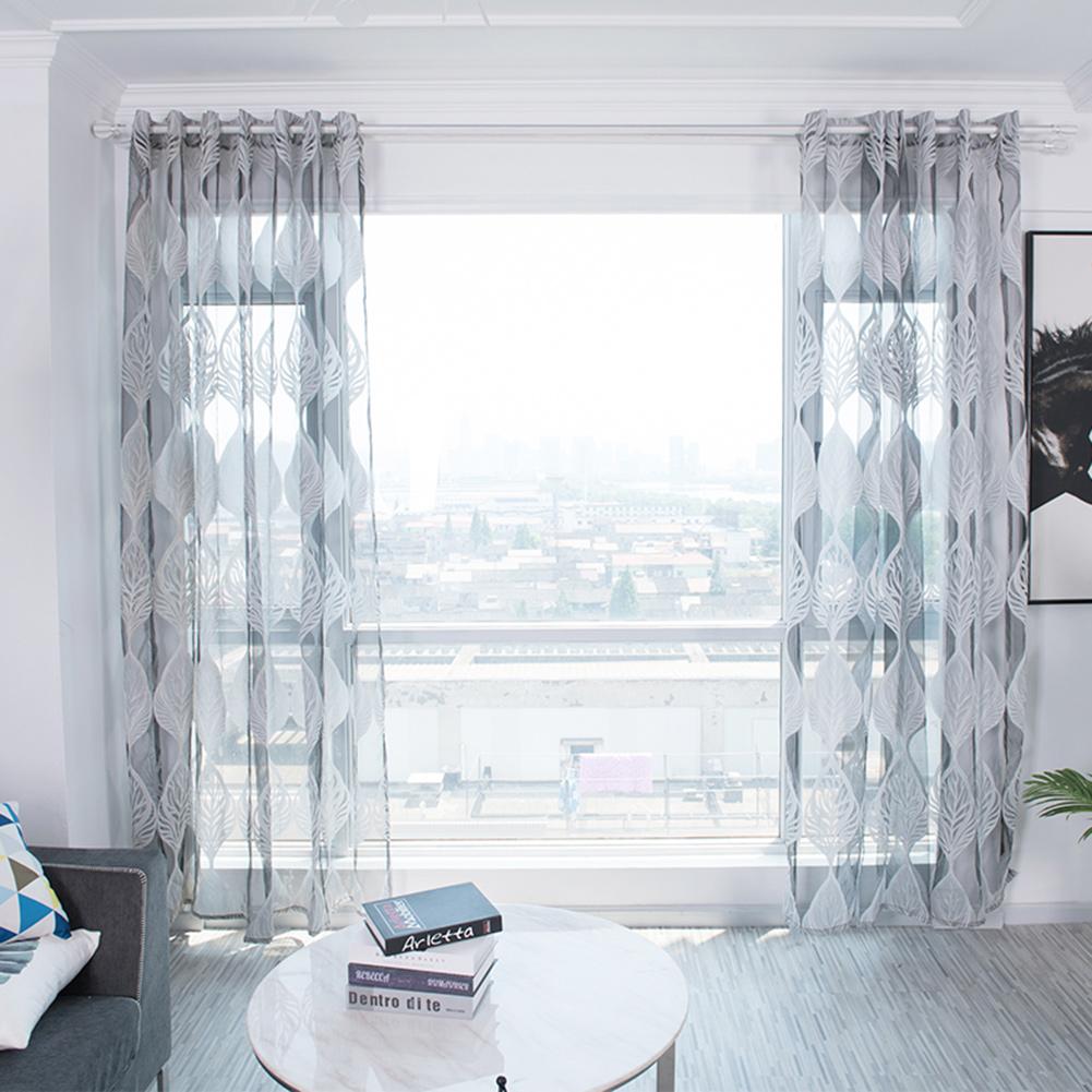 rdeghly type perfore rideau en fenetre brode par feuille de rideaux pour la chambre a coucher rideaux en fenetre rideau en fenetre brode