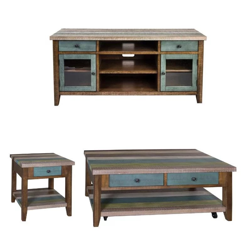 3 piece coffee table set with 60 inch tv stand and end table