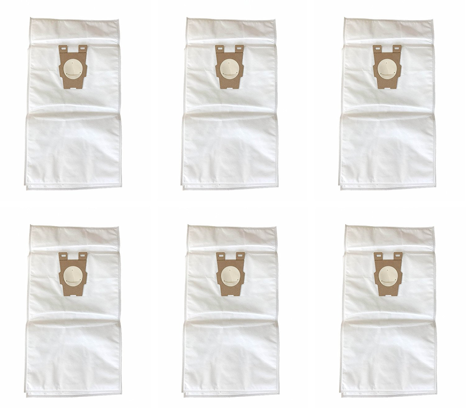 Style F HEPA Filtration Vacuum Bags Replacement for Kirby similar to Part#204808 / 204811 for Sentria Models, pack of 6 bags