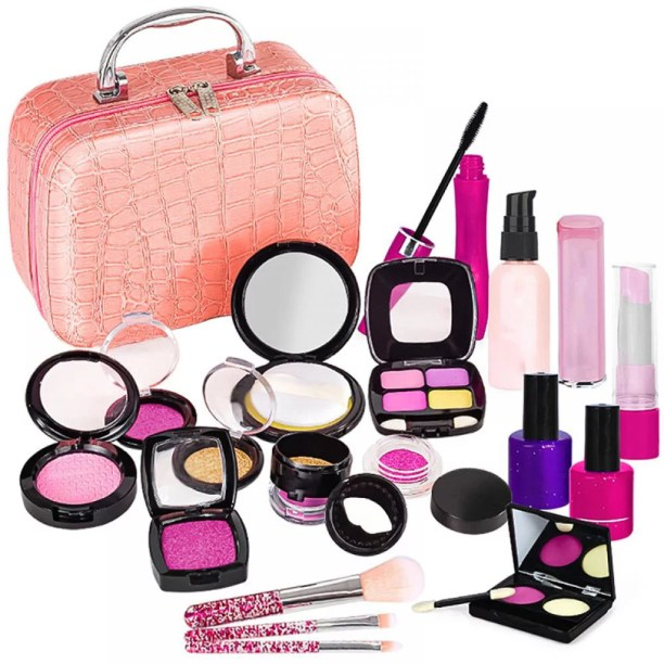 21 Piece Kids Pretend Makeup Kit With