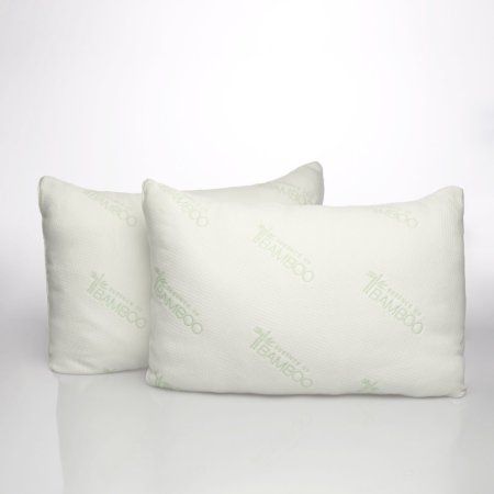 essence of bamboo knit bed pillow set of 2