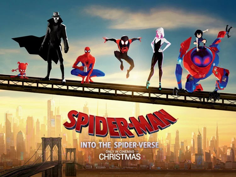 spider man into the spider verse movie poster 27 x 40 style d