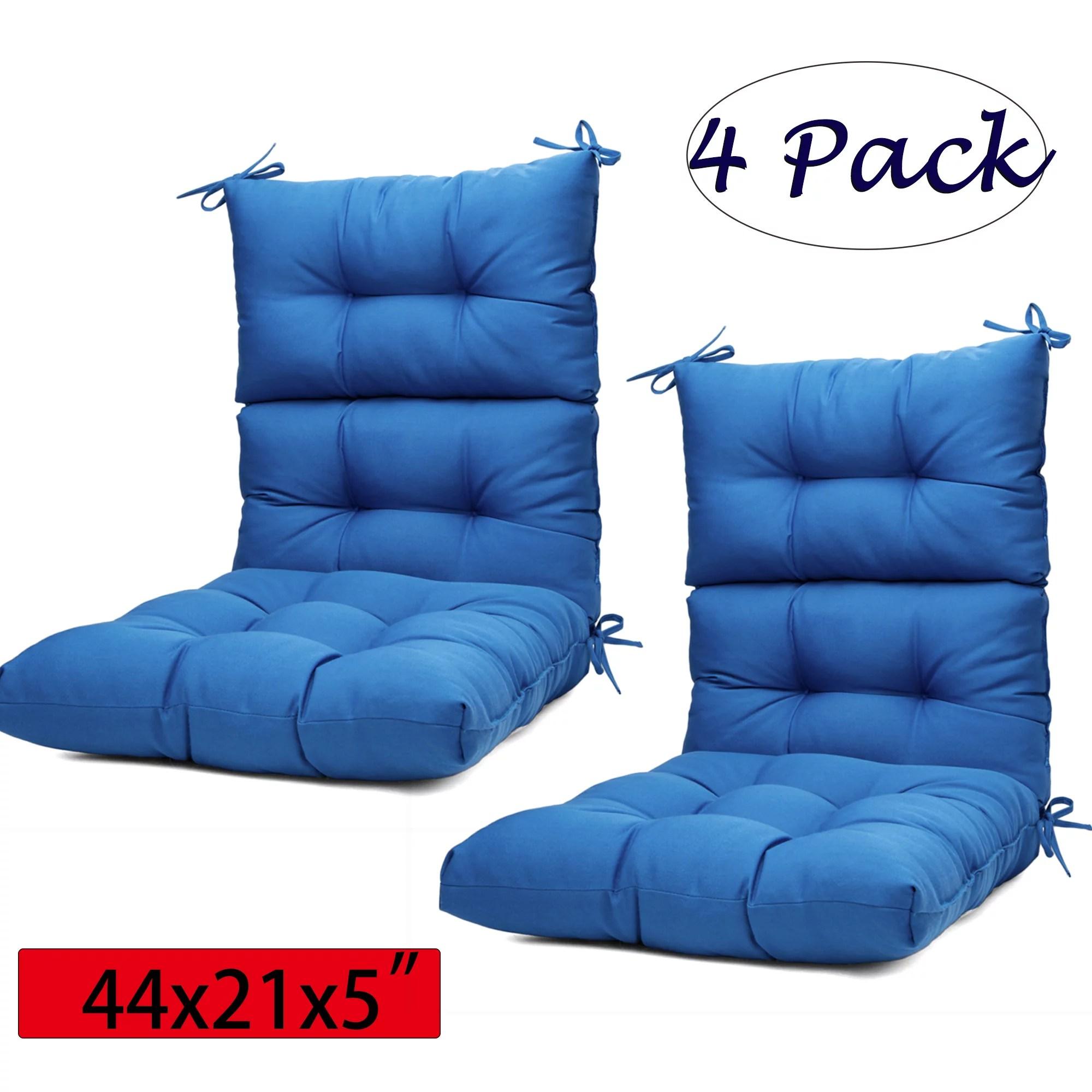 44x21x5 inch comfortable outdoor dining chair cushion high back solid chair cushion high rebound foam cushion four color 1 set 2 set 4 set
