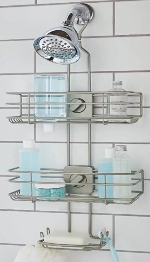 better homes gardens adjustable shower caddy satin nickel