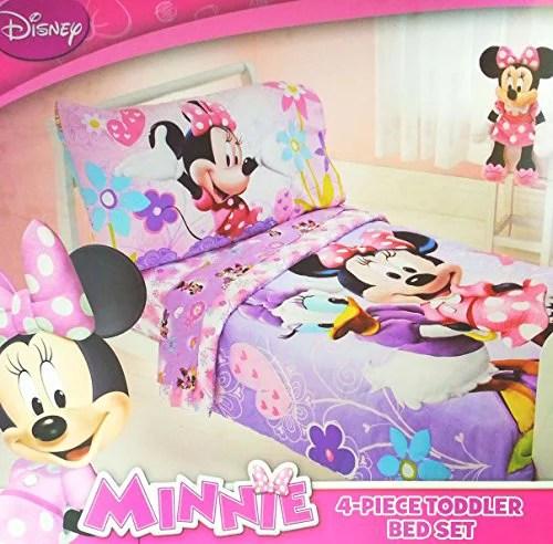 Disney Minnie Mouse 4 Piece Toddler Bedding Set - Walmart.com