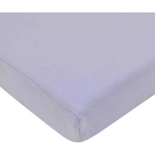 American Baby Co. Cotton Supreme Jersey Knit Fitted Crib Sheet, Lavender