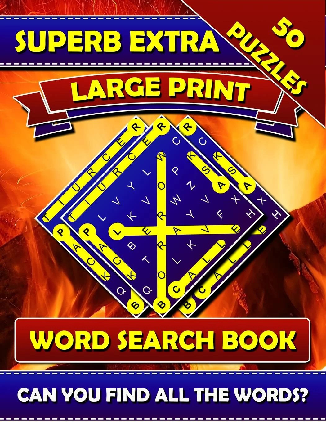 Superb Extra Large Print Word Search Books Big Font Books