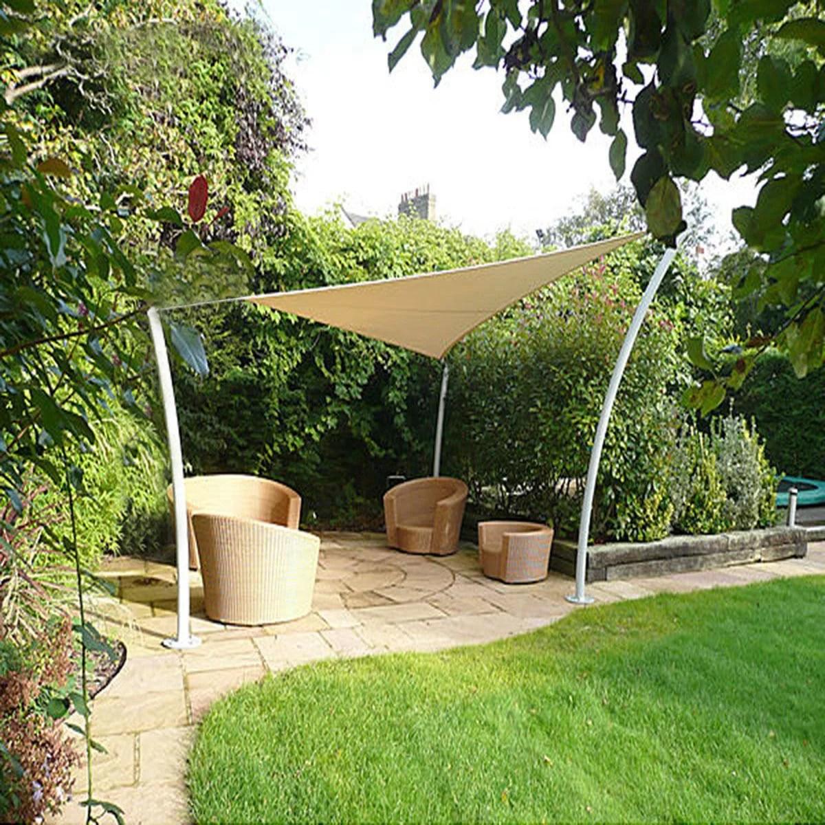 12 x 12 ft feet triangle uv heavy duty sun shade sail patio cover sand canopy walmart com