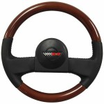 1984 1985 C4 Corvette Leather Mahogany Wood Steering Wheel Kit 9768988 Walmart Com Walmart Com