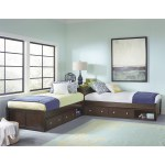 Hillsdale Pulse L Shaped Two Twin Beds With Double Storage Brown Walmart Com Walmart Com