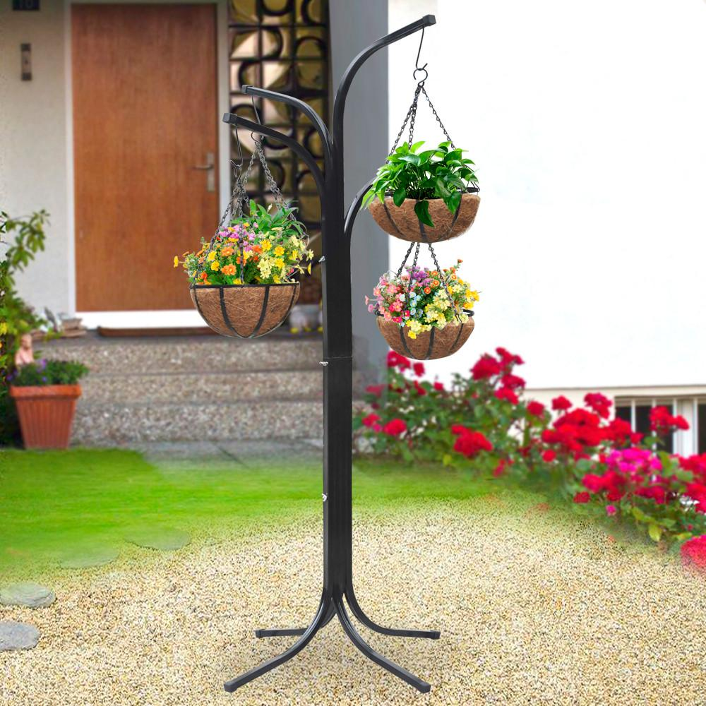 Yaheetech 4 Arm Tree Plant Stand Hanging Holder Baskets /w ... on Hanging Stand For Plants  id=94379
