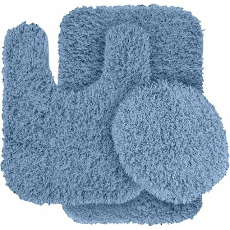 jazz shaggy nylon 3-piece washable bathroom rug set - walmart