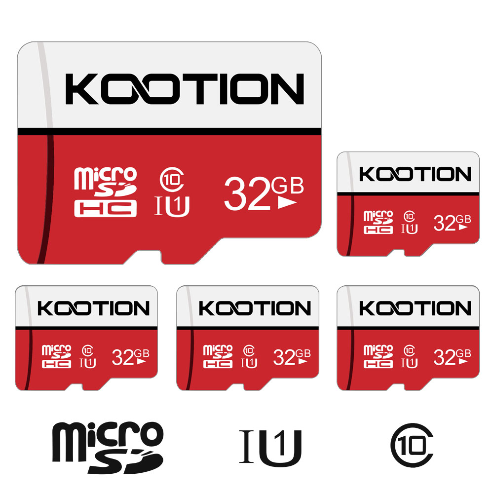 KOOTION 5 Pack 32 GB Micro SD Cards TF Card Micro SDHC UHS-I Memory Cards Class 10 High Speed Micro SD Cards, C10, U1