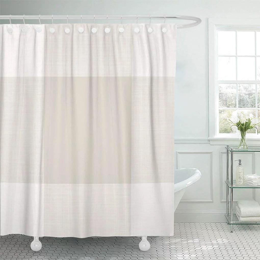 atabie modern farmhouse beige buffalo bathroom bath plaid rustic shower curtain 66x72 inch