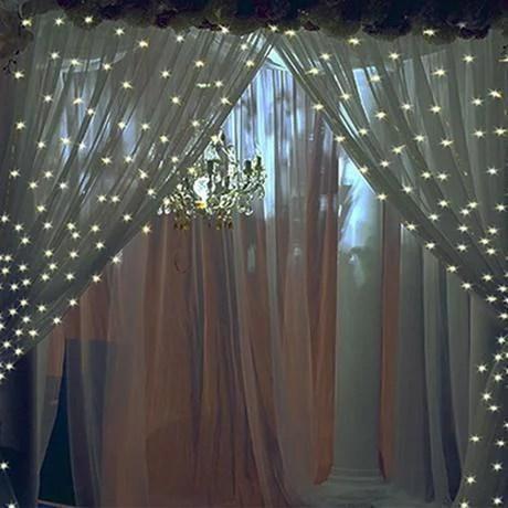 fsd 10 feet 300 led warm white string curtain lights