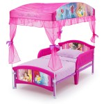 Delta Children Disney Princess Plastic Toddler Canopy Bed Pink Walmart Com Walmart Com
