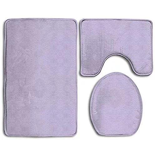 gohao lavender purple solid color 3 piece bathroom rugs on farmhouse colors for bath mats walmart id=18113