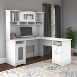 Bush Furniture Cabot 60w L Shaped Computer Desk With Hutch Walmart Com Walmart Com