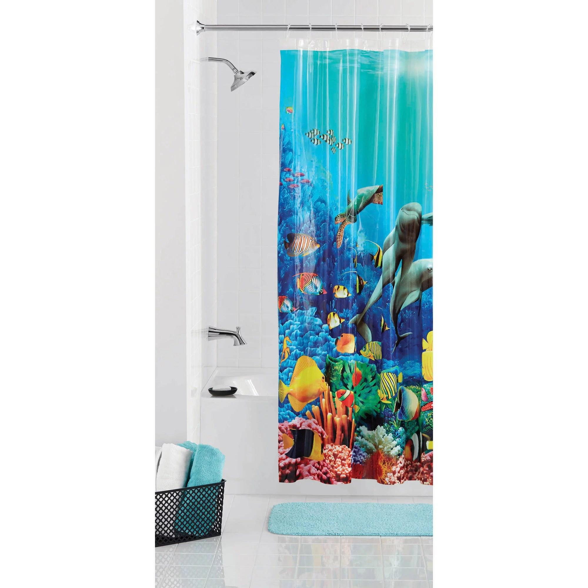 mainstays dolphin shower curtain 70 x 71