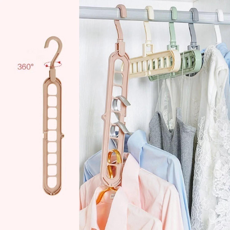 Space Saving Clothes Hanger Organizer Rotate Anti-skid ... on Closet Space Savers Walmart  id=55895