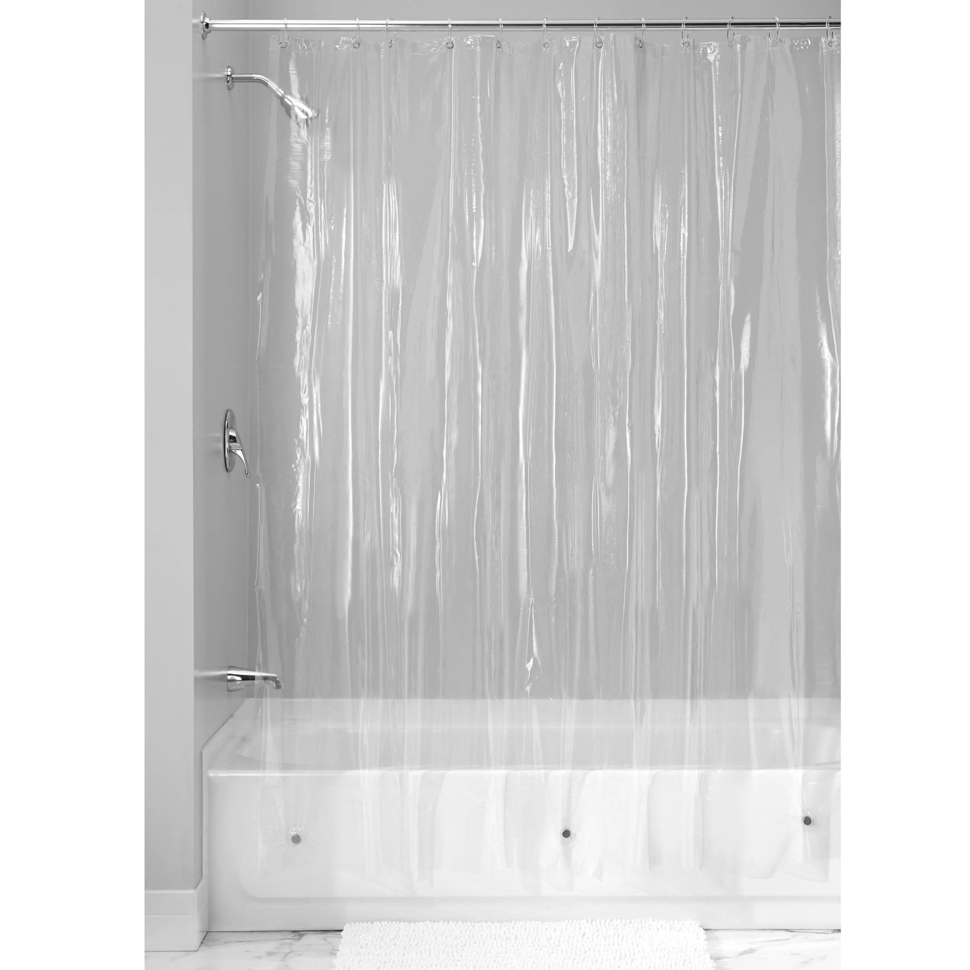 interdesign vinyl shower curtain liner standard 72 x 72 clear