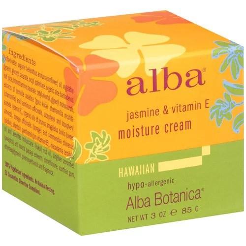 Alba Botanica Hawaiian Moisture Cream Smoothing Jasmine & Vitamin E, 3 Oz
