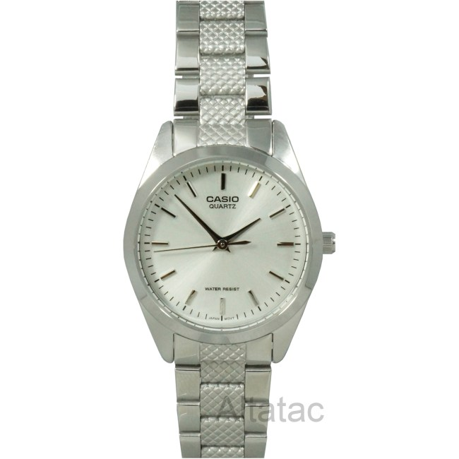 Casio LTP-1274D-7A Women's Textured Band Analog Fashion Watch w/ Silver Dial