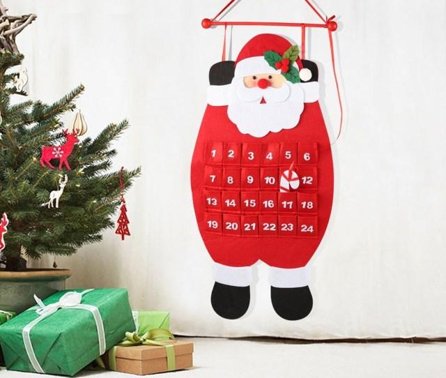 Countdown To Christmas Advent Calendar D Santa Felt Advent Calendar  Countdown To Christmas Calendar Indoor