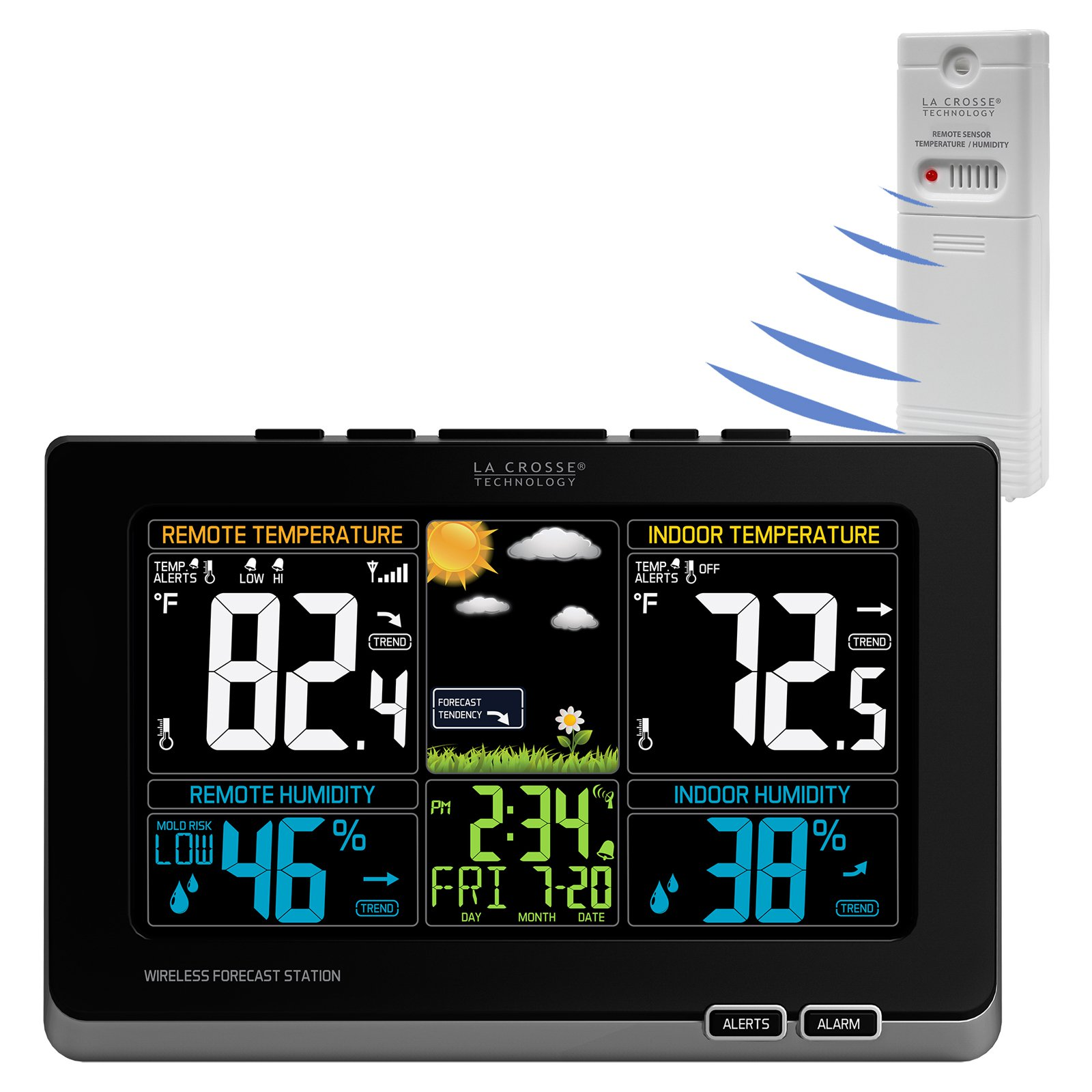La Crosse Color Weather Station With In Out Temperature