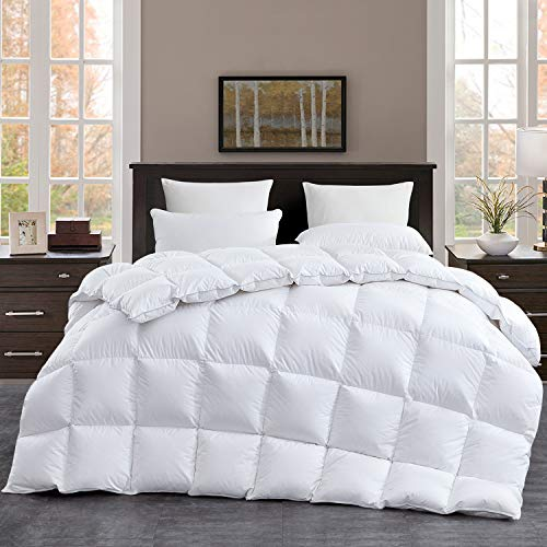 royalay luxurious 108 x98 oversized california king goose down comforter cal king duvet insert 57 oz filling 100 cotton shell with 8tabs