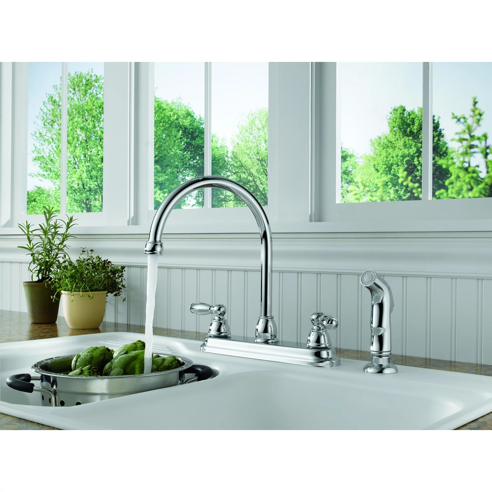 pull out spray kitchen faucets