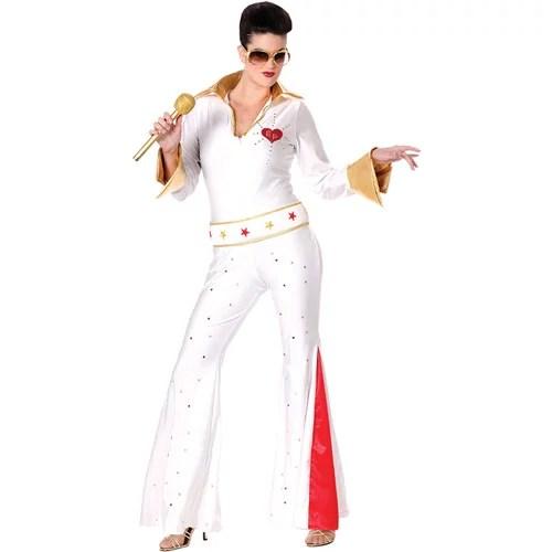 Elvis Female Jumpsuit Adult Halloween Costume Walmartcom