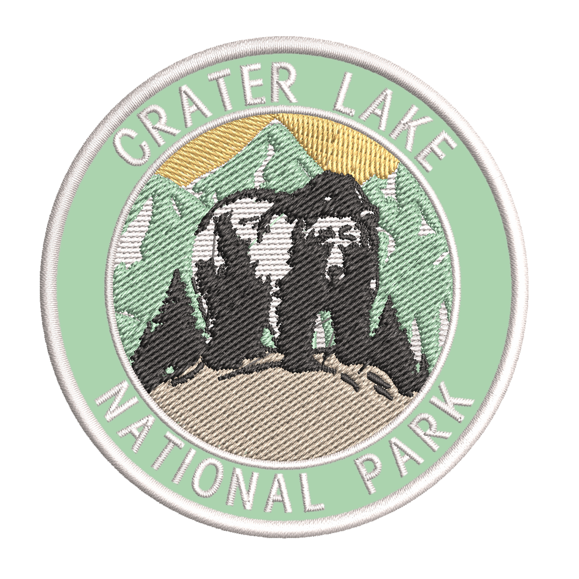 Explore Crater Lake 3 5 Embroidered Iron Or Sew On Patch