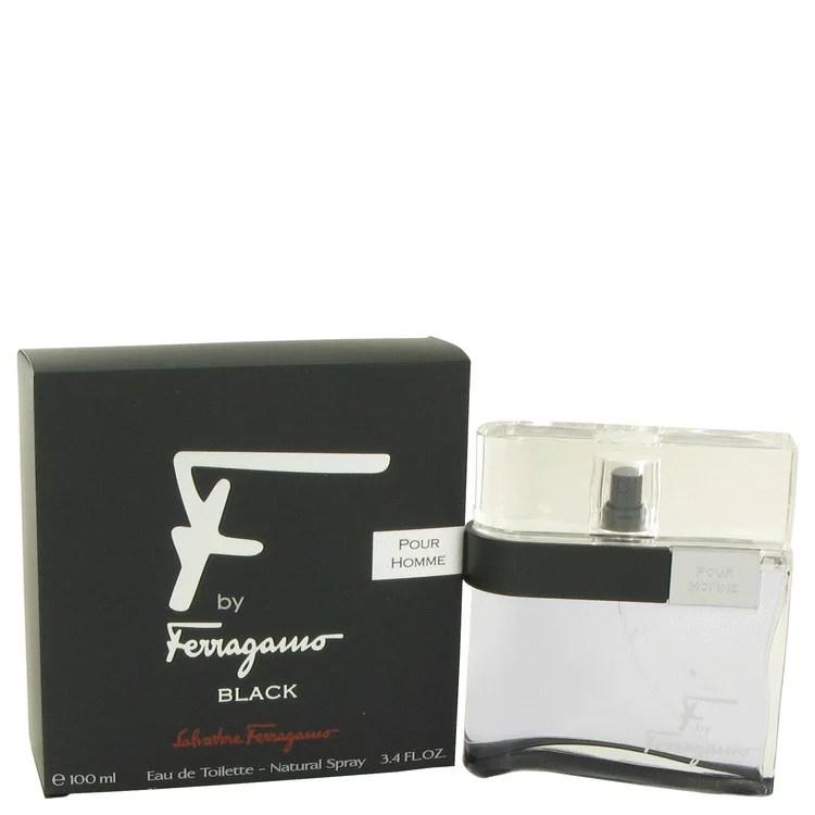 F Black by Salvatore Ferragamo Eau De Toilette Spray 3.4 oz for Men