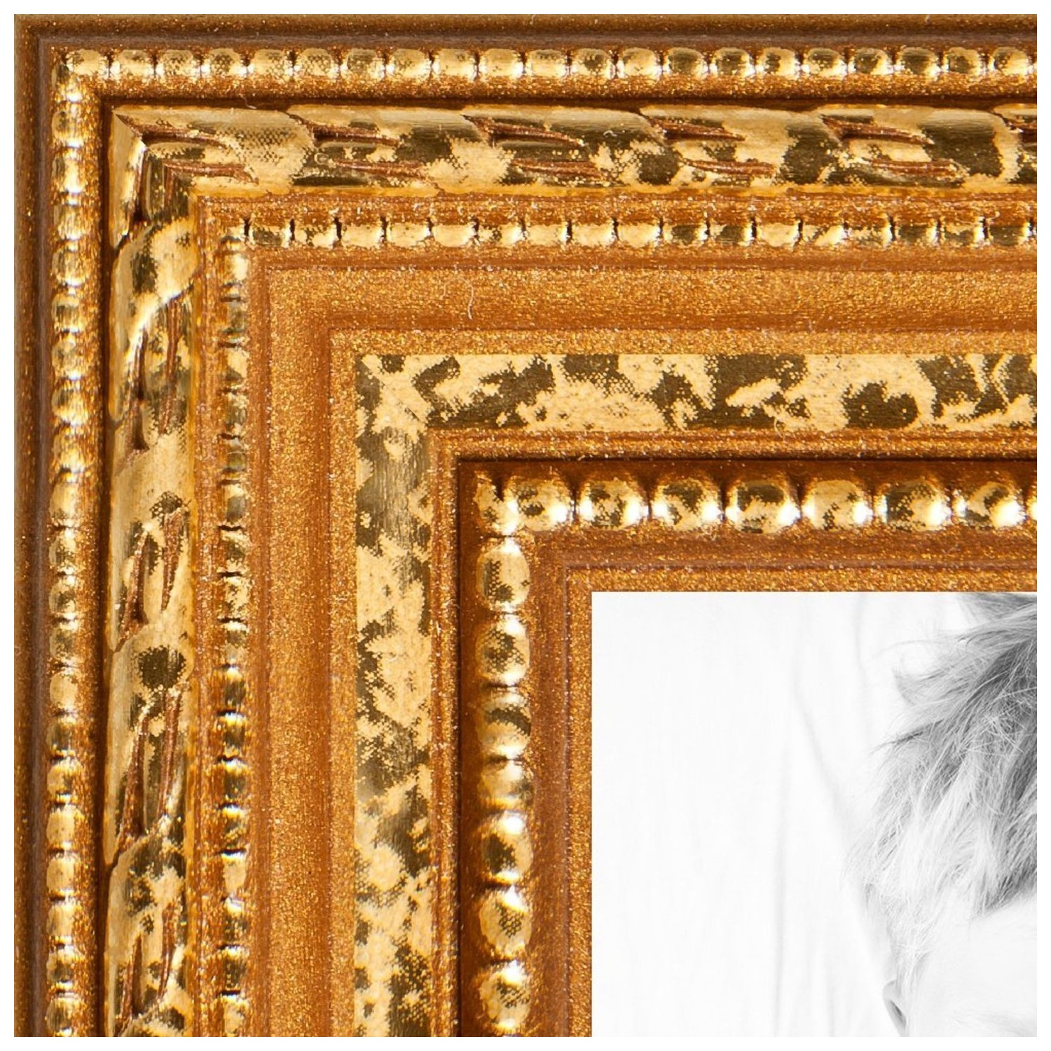arttoframes 20x24 inch gold picture frame this gold wood poster frame is great for your art or photos comes with styrene 4317