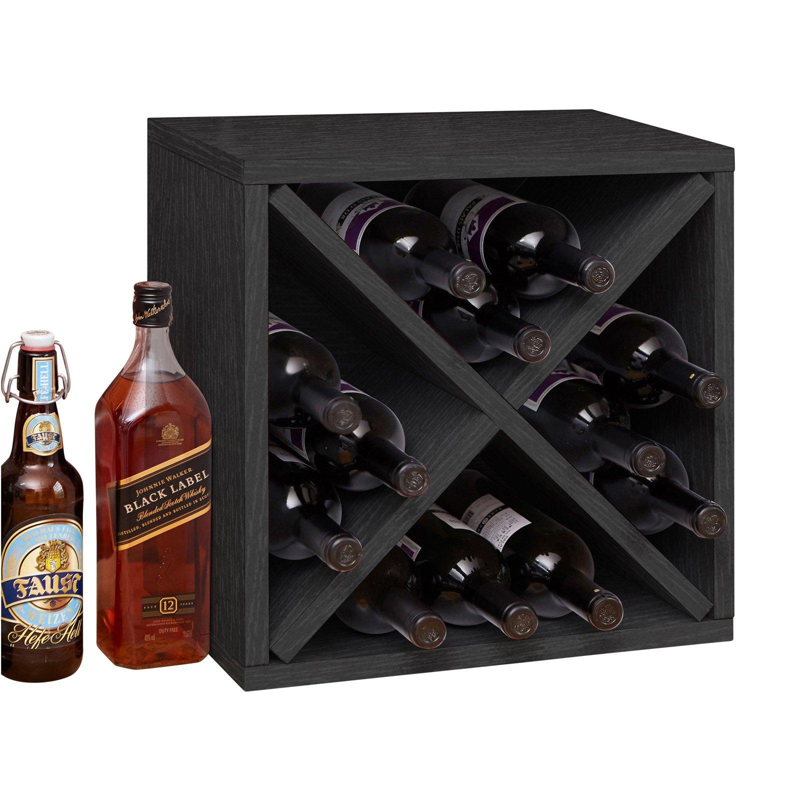 way basics stackable blox 12 bottle table top wine rack