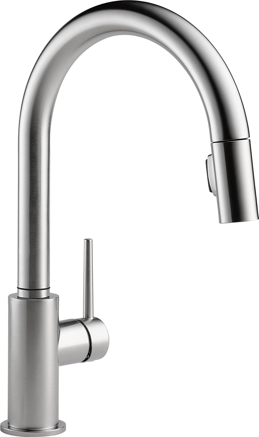 modern commercial stainless steel single lever pausebotton pull out sprayer kitchen faucet brushed nickel kitchen sink faucet walmart com