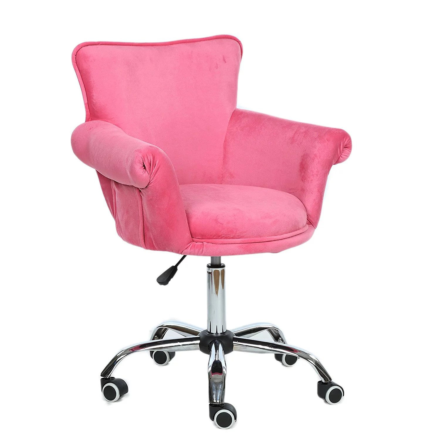 magshion deluxe microfiber office desk chair bar stool beauty nail salon spa vanity seat pink